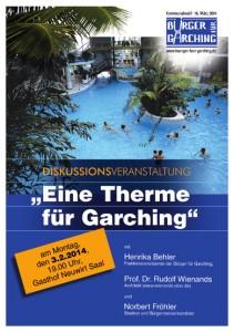 BfG-Plakat 2014 - DISKUSSION - THERME -