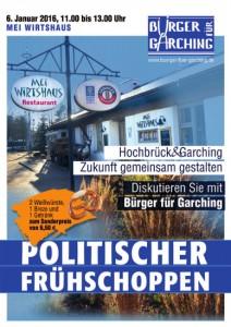 Plakat - politischer Fruehschoppen Hochbrueck