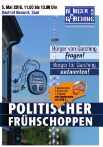 Plakat - Politischer Fruehschoppen 2016